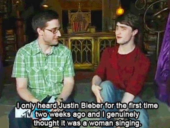 Daniel Radcliffe on Justin Bieber