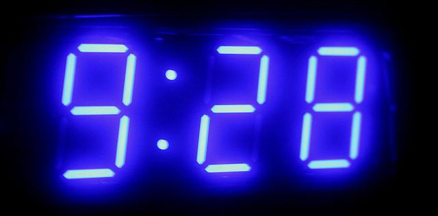 An alarm clock is now an unnecessary sight