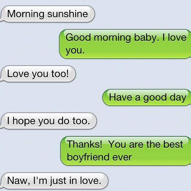 A sweet text message
