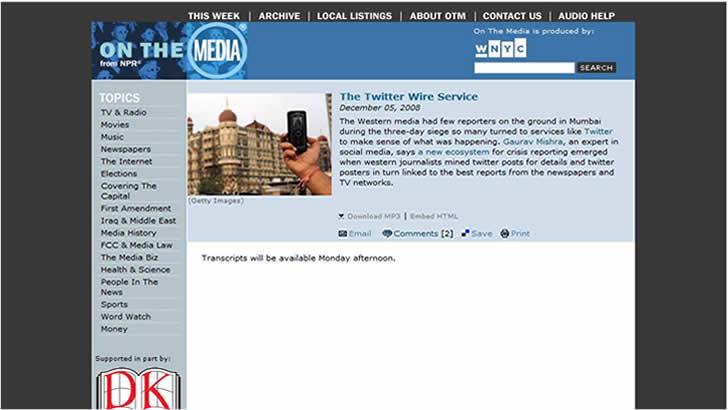 Mumbai Attack Tweets
