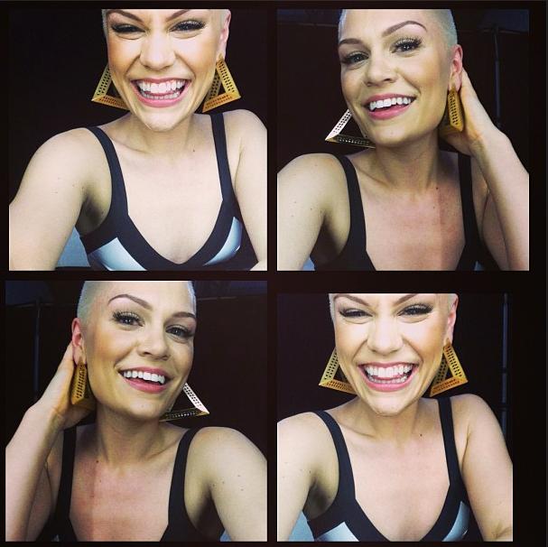 A collage of Jessie J selfie shots