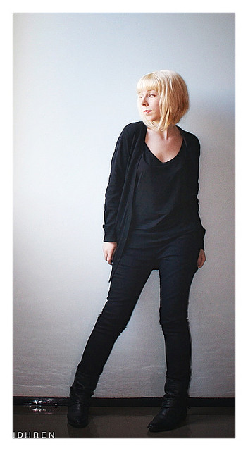 A black cardigan can be added to nearly every outfit