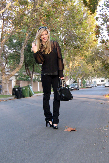 Black skinny jeans provide a great base for outfits