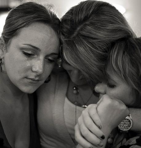Three women being sad