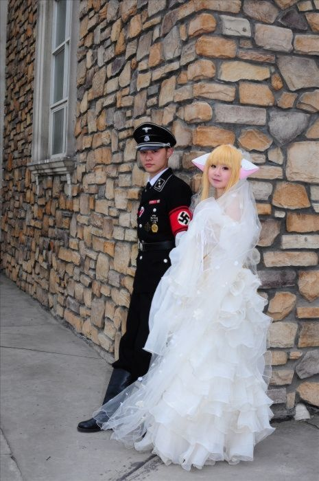 Nazi groom and anime wife