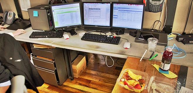 Computer desk food
