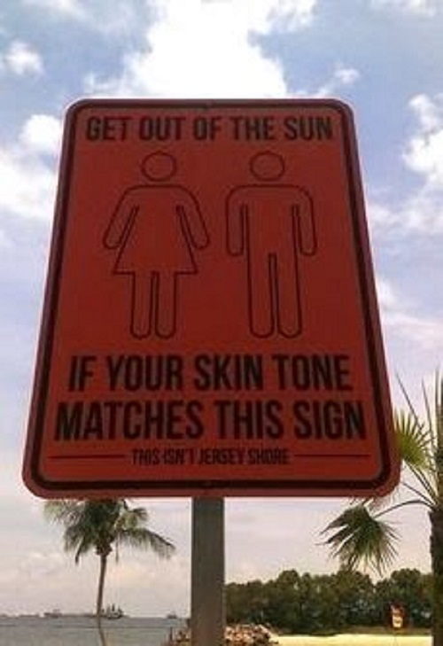 Keep out of the sun