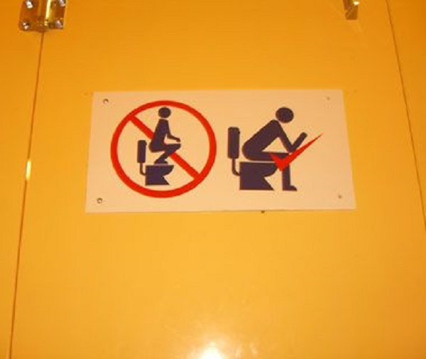 Toilet instructions