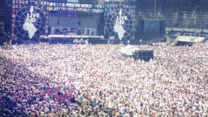 Live Aid Charity concert Wembley Stadium