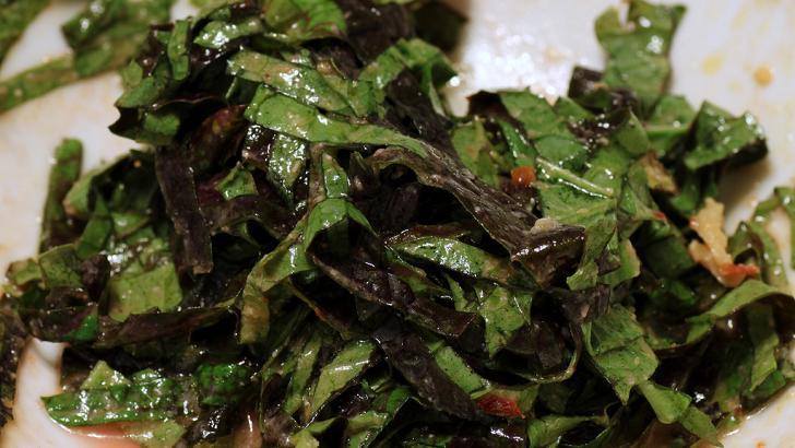 Marinated kale