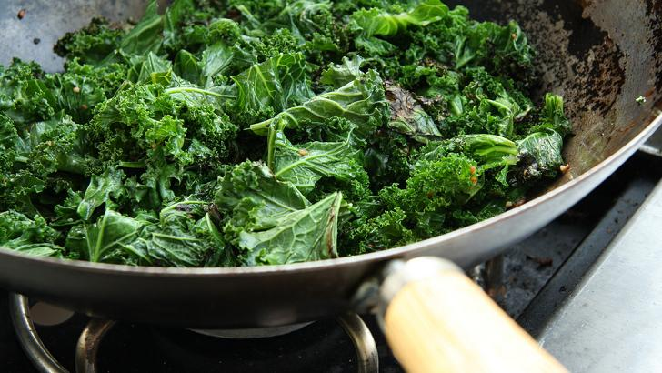 Cooking kale