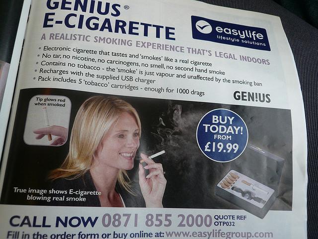 E-cigarette ad