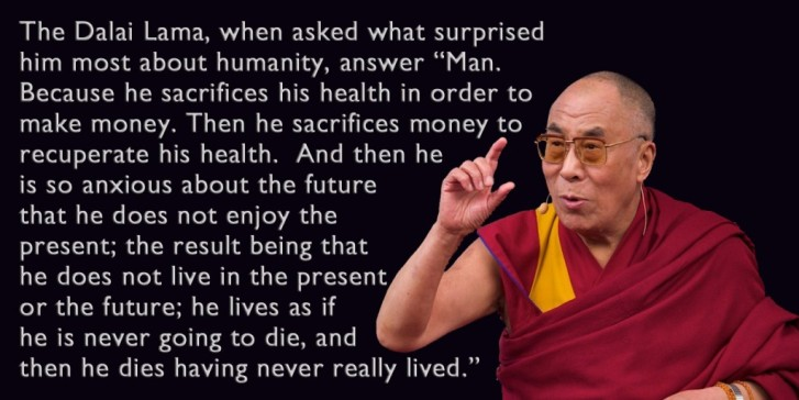 Dalai Lama Be True to Yourself